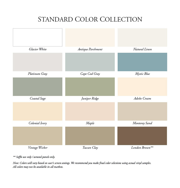 Alside Color Chart The Gutter Company