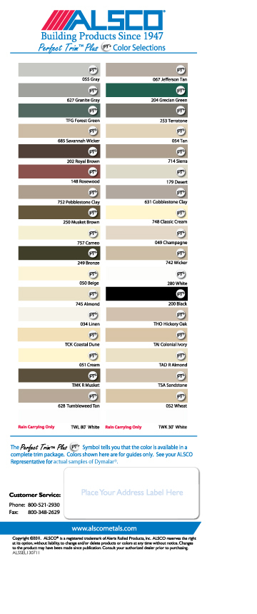 Siding Color Chart Joy Studio Design Gallery Best Design