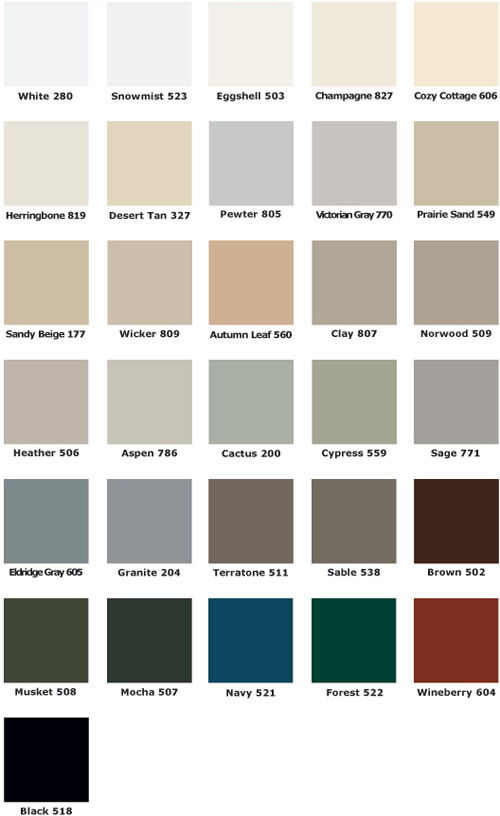 Quality Edge Color Chart The Gutter Company